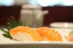 Salmon sushi Stock Photos