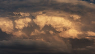 Dramatic Clouds Timelapse Stock Footage
