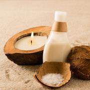 Spa coconut body products Stock Photos