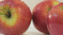 apples on the rotation table - stock footage