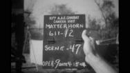 Hand holding Matterhorn scene 46 sign board Stock Footage