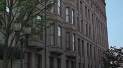 Downtown Building in the Evening Stock Footage