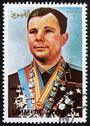 Stock Photo of Postage stamp Umm al-Quwain 1972 Yuri A. Gagarin, Astronaut