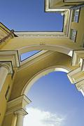 Intricate arched building - stock photo