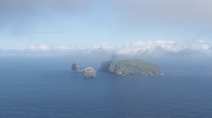 Timelapse of Isle of Boreray viewed from Hirta St Kilda Scotland Stock Footage