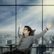 Relaxed and dreaming businessman 1 Stock Illustration