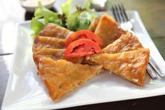 fried shrimp roti - stock photo