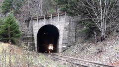 Train Tunnel Awesome 2.mp4 Stock Footage