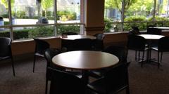 Empty school cafeteria Stock Footage