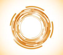 Orange technology circle graphic illustration Stock Illustration