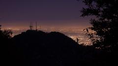 Nightfall over Los Angeles Stock Footage