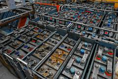 Large amount of power supplies - stock photo