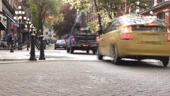 Vancouver - Gastown - 02 - Traffic & People - Time Lapse Stock Footage