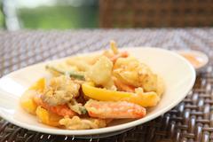 vegetable tempura - stock photo