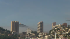 Sea fog and buildings in benidorm Stock Footage