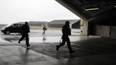 F-15C Eagle  take part in Icelandic Air Policing Stock Footage