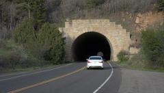 Tunnel traffic Mesa Verde Colorado HD 107 Stock Footage