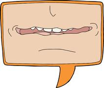 mouth close up - stock illustration