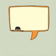 Stock Illustration of listening to conversation