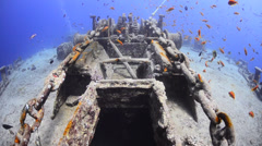 World war 2 shipwreck - SS Thistlegorm - 29.97fps Stock Footage