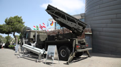 Accular LAR a highly accurate autonomously guided 160mm artillery rocket system  - stock footage