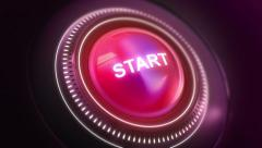 Button Start On/Off Stock Footage