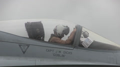 F/A-18 Hornet Marine Fighter Attack Squadron Daily Operations Stock Footage