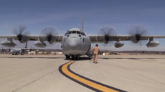 Marines set up an Air Delivery Ground Refueling (ARDG) site Stock Footage