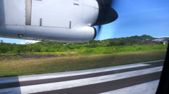 Start of aircraft and flying over islands of indonesia, Flores, Komodo Stock Footage