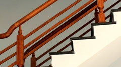 Foot steps on the stairs Stock Footage