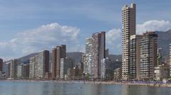 Levante beach in benidorm Stock Footage
