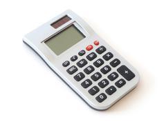 Small digital calculator Stock Photos