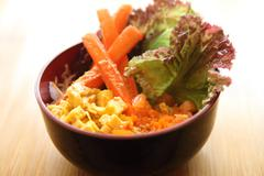 salad japanese style - stock photo
