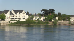 Loire river at saumur Stock Footage