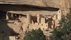 Pueblo Ancient indian cliff dwelling Mesa Verde HD 102 Stock Footage
