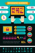 IT Industry Infographic Elements - stock illustration