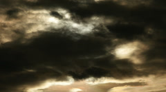 Dark storm clouds. sky cloud. cloudscape. 4K background Stock Footage