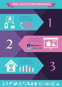 Real Estate Infographics. Stock Illustration