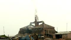 Brick kiln smoke Stock Footage