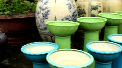 Ceramic products Stock Footage
