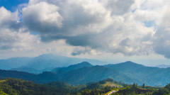 4k cloudy timelapse genting tilt up Stock Footage