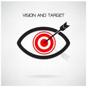 Vision and target concept ,eye symbol,business idea Stock Illustration