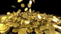 Coins Fall Stock Footage