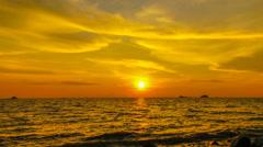 4k timelapse sunset with orange skies Stock Footage