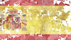 National Transitions  - Spanish Flag-White Stock Footage
