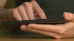 4K Tablet Being Used Stock Footage