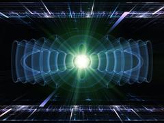 Symmetry of energy - stock illustration