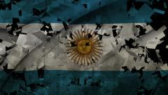 National Transitions - Argentina Flag Transition - Black Stock Footage