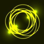 Yellow plasma circle effect background Stock Illustration