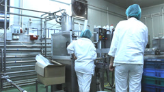 Milk  yogurt factory Stock Footage